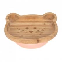 Lassig πιάτο από ξύλο & μπαμπού - Little Chums Mouse