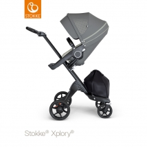 Stokke Xplory V6  Black Chassis - Athleisure Green