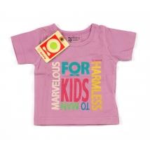 Katvig t-shirt recycled organic για μωρά - Σκούρο ροζ