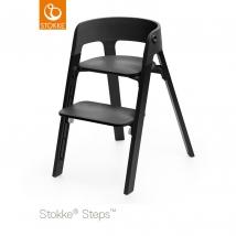 Stokke Steps παιδικό κάθισμα φαγητού Black Oak - Black/Oak black