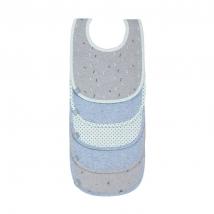 Lassig σαλιάρες σετ 5 τμχ melange - Blue Bash 1311002415