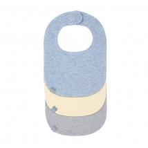 Lassig σαλιάρες για νεογέννητα σετ των 3 τμχ. - Melange yellow/blue/grey 1311001907