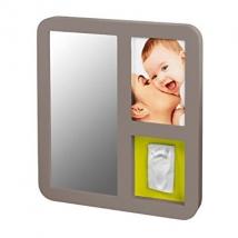 BabyArt καθρέπτης με φωτογραφία και αποτύπωμα - taupe & lime plum 34120087