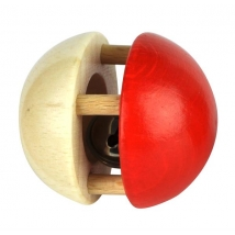 Voggenreiter ξύλινη κουδουνίστρα μπάλα - 1122 φυσικό/κόκκινο