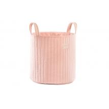 Nobodinoz καλάθι για τα παιχνίδια Savannah Velvet - Bloom Pink  NB113319