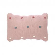 Lassig πλεχτό μαξιλάρι - Dots dusky pink 1542013799
