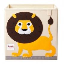 3 Sprouts τετράγωνο καλάθι για τα παιχνίδια - Lion