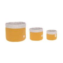 Lassig καλάθια αποθήκευσης σετ των 3 - 1541007837 Mustard