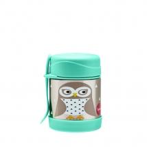 3 Sprouts ανοξείδωτο βάζο φαγητού - Owl