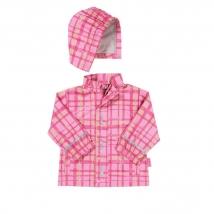 Playshoes αδιάβροχο καρό 408651 - Pink
