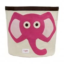 3 sprouts καλάθι για τα παιχνίδια - Elephant pink