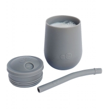 Ezpz εκπαιδευτικό ποτήρι Mini Cup + καλαμάκι Blush - Grey