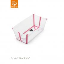 Stokke Flexi Bath μπανάκι - Διάφανο ροζ