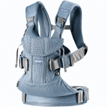 BabyBjörn μάρσιπος One Air 3D Mesh - Slate blue, 098020