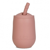 Ezpz εκπαιδευτικό ποτήρι Mini Cup + καλαμάκι Blush - Blush