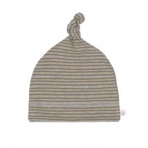 Laessig βαμβακερό σκουφάκι - Striped Grey Melange 1531016136