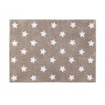 Lorena Canals παιδικό χαλί - Linen stars white C-L-SW