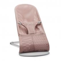 BabyBjörn ριλάξ Balance Soft, Light grey frame - Dusty Pink, Mesh 006108