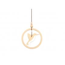 Nobodinoz ξύλινο μόμπιλο  Humming bird - white NB93024