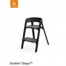 Stokke Steps παιδικό κάθισμα φαγητού - Black/Black