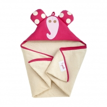 3 sprouts πετσέτα με κουκούλα - Pink Elephant