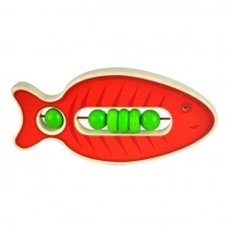 Voggenreiter ξύλινη κουδουνίστρα ψάρι - 1125 κόκκινο