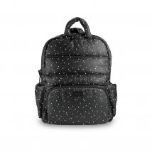 7AM τσάντα αλλαγής πλάτης BK718 - Print Black Petit Pois