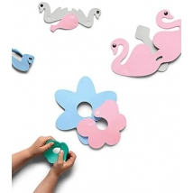 Quut παιχνίδι μπάνιου puzzle ζωάκια - Κύκνοι  QU171126