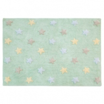 Lorena Canals παιδικό χαλί - Stars soft mint C-ST-SM
