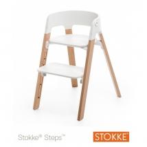 Stokke Steps παιδικό κάθισμα φαγητού - White/Natural