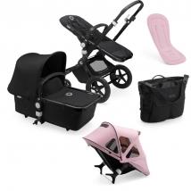Bugaboo Cameleon Breezy Summer Bundle - Black/black pink