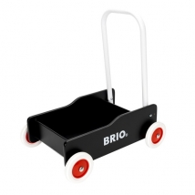 Brio ξύλινο καροτσάκι-περπατούρα - Μαύρο 31351