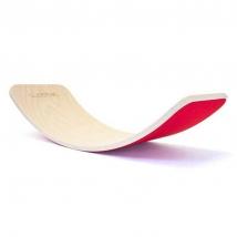 Wobbel ξύλινη σανίδα ισορροπίας με τσόχα - Red