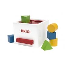 Brio ξύλινο κουτί με σχήματα - White 30250
