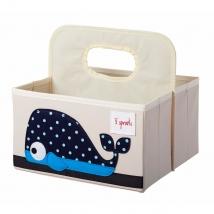 3 Sprouts τσάντα-θήκη για πάνες - Whale