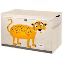 3 sprouts καλάθι για παιχνίδια με καπάκι - Leopard