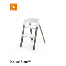 Stokke Steps παιδικό κάθισμα φαγητού - White/Hazy grey