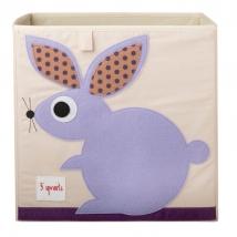 3 Sprouts τετράγωνο καλάθι για τα παιχνίδια - Rabbit