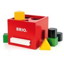 Brio ξύλινο κουτί με σχήματα - Red 30148