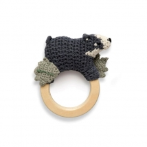 Sebra crochet κουδουνίστρα AW21-22 - Shadow the badger 300930048