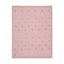 Lassig πλεκτή κουβέρτα GOTS - Dots Dusky Pink 1542005799
