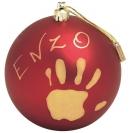 BabyArt Christmas ball - red