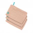 Lassig γάντι μπάνιου από μουσελίνα, σετ 3τμχ. - light pink 1312017703