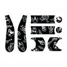 Doona Liki σετ αυτοκόλλητα - Blk&white Cool scetch