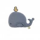 Lassig πλεκτό παιχνίδι με κουδουνάκι - Little Water Whale 1313009452