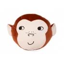 Nobodinoz Savannah velvet μαξιλάρι - Monkey wild brown