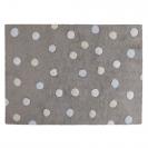 Lorena Canals παιδικό χαλί Dots - Topos tricolor grey/bleu C-TT-2