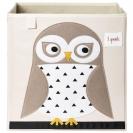 3 sprouts τετράγωνο καλάθι για τα παιχνίδια - Owl
