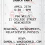 Launch party leaflet