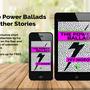Power ballads on blurred   background